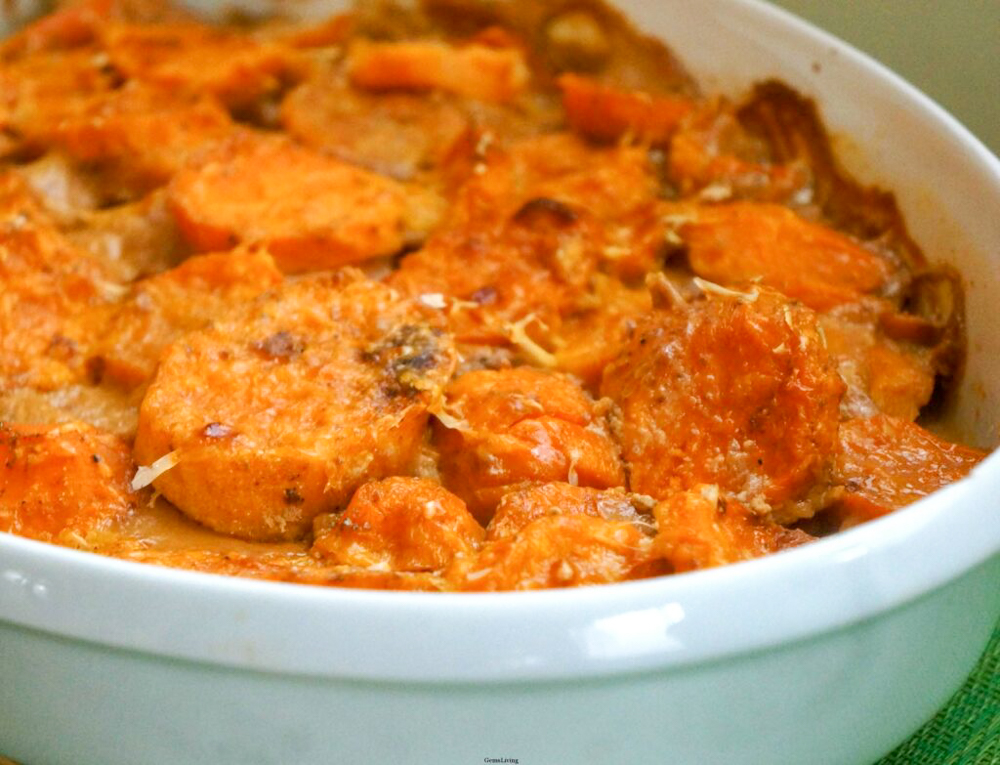Sweet Potato au Gratin