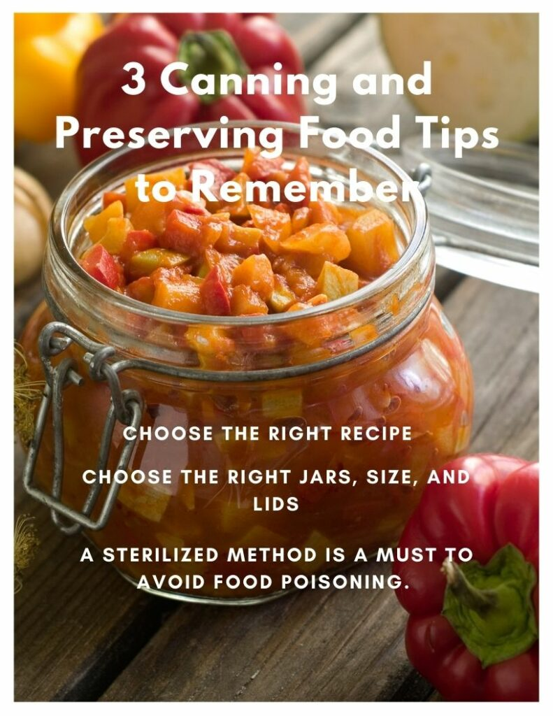 tips for canning and preserving