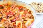 Okra with Lamb Stew
