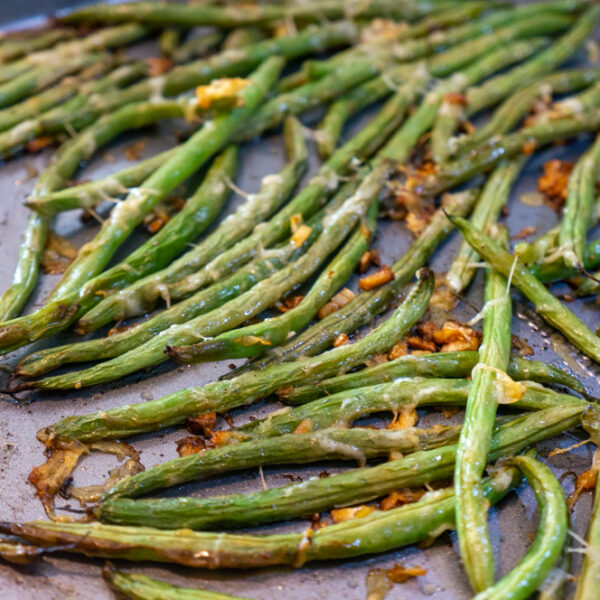 string beans with Asiago