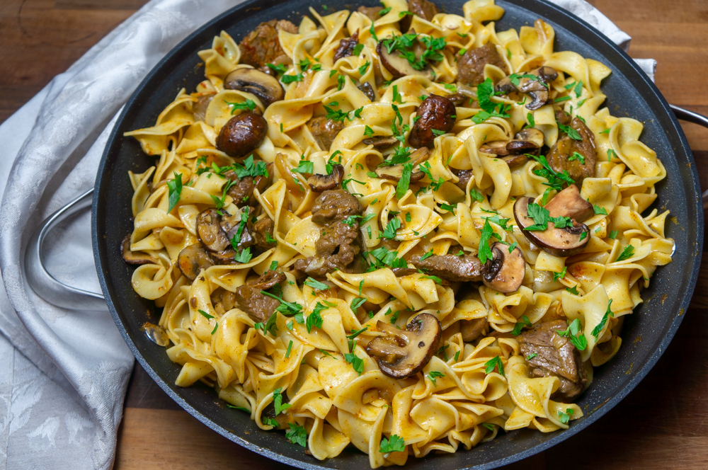Pasta Noodles with Leftover meat