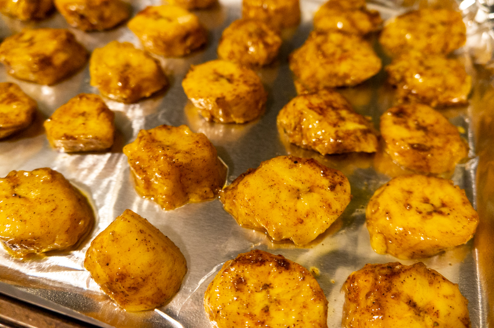 Baked Sweet and Spicy Plantains