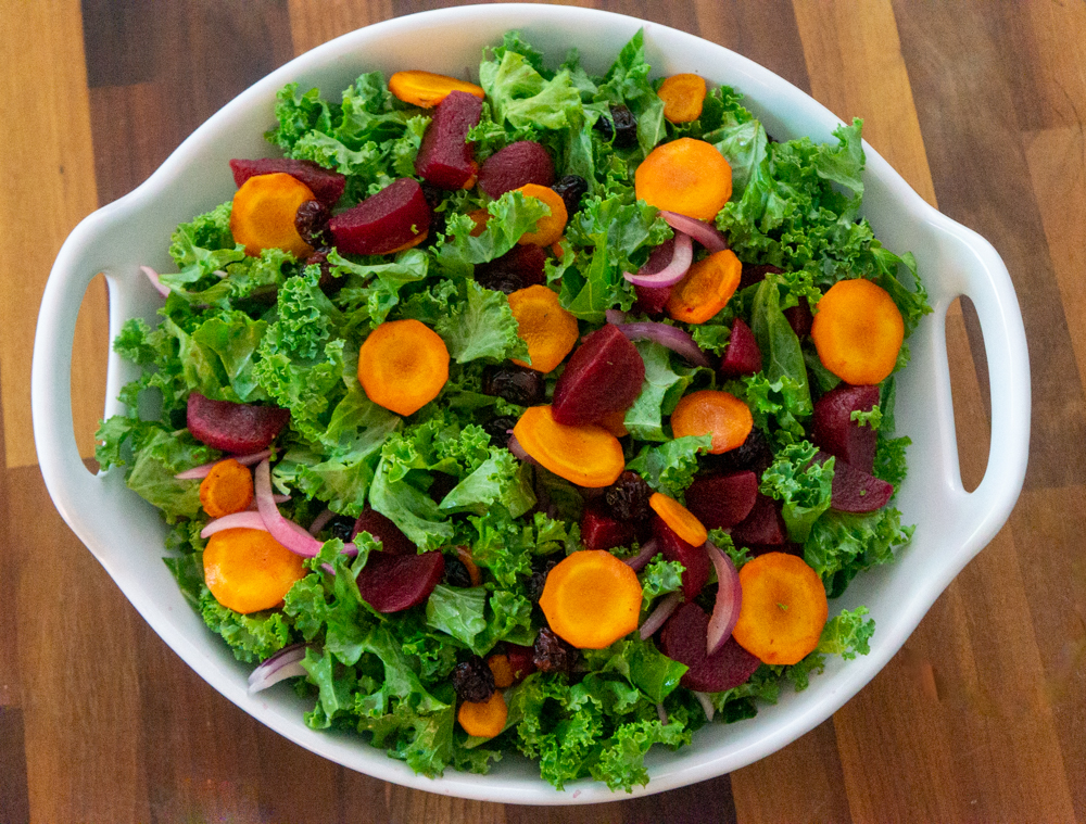 Kale Roasted Beets and Carrots Salad3