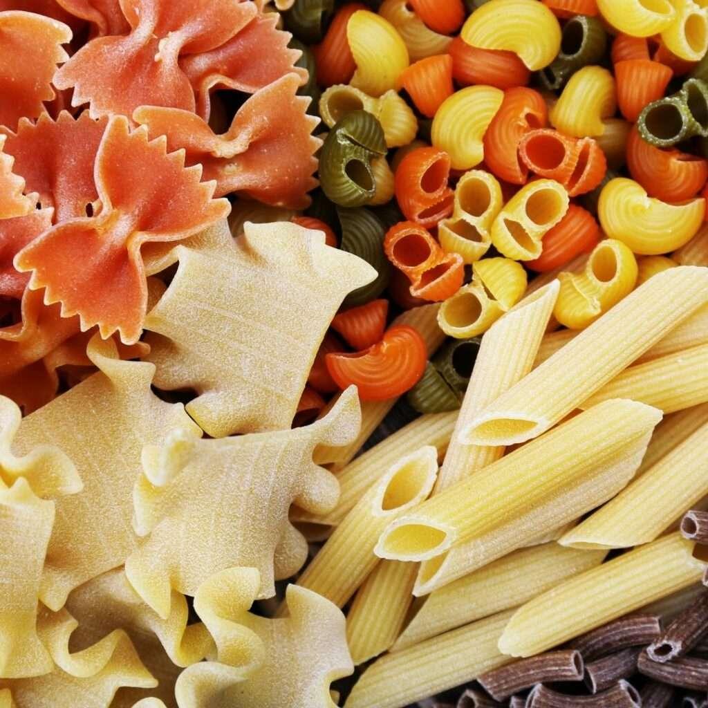 different pasta noodles